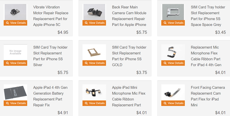 replacement parts mac
