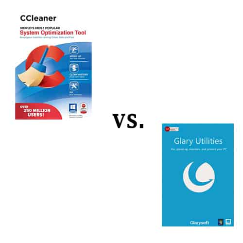 CCleaner vs Glary Comparison