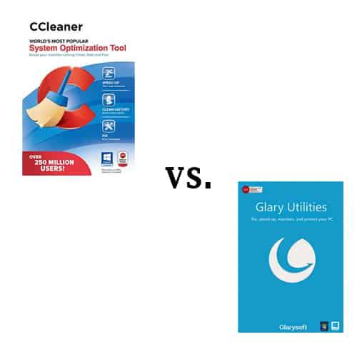 CCleaner vs Glary Comparison