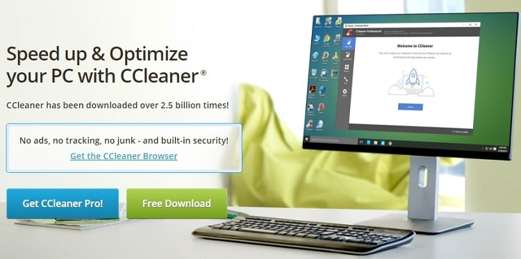 CCleaner home page