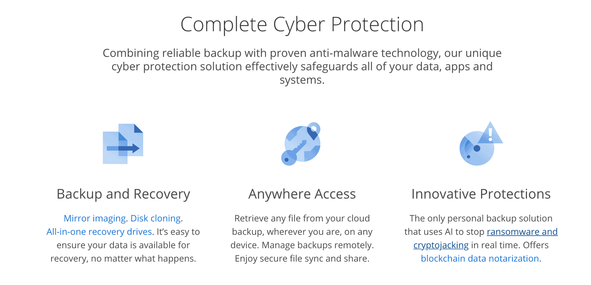 acronis home page