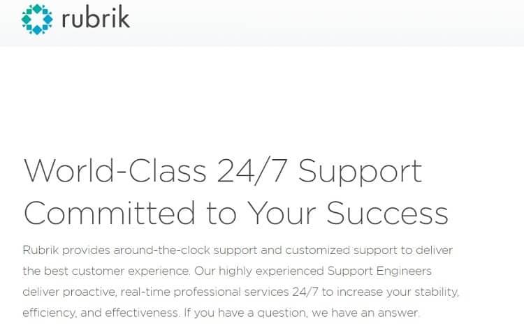 Rubrik Customer Support